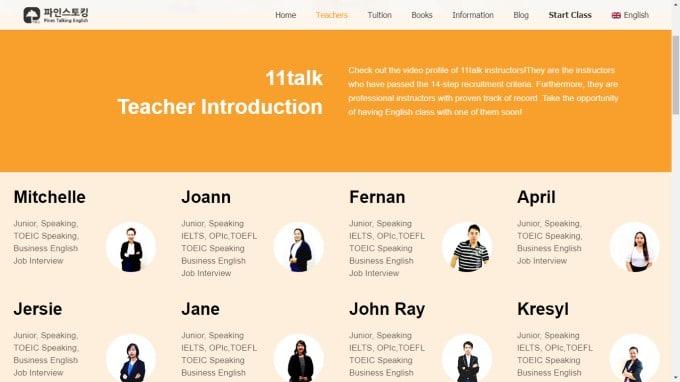 11talk teachers